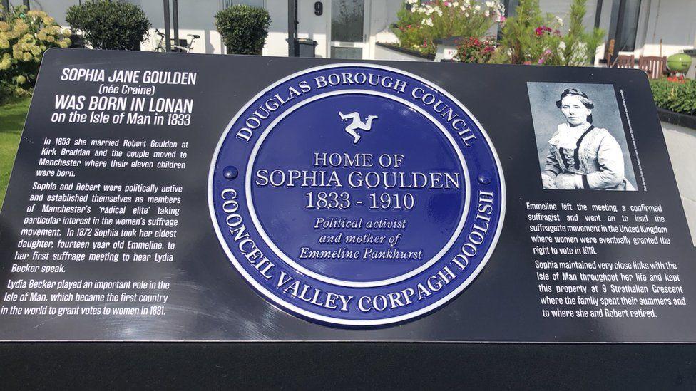 Sophia Goulden blue plaque