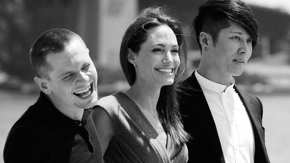 Jack O'Connell, Angelina Jolie and Takamasa Ishihara
