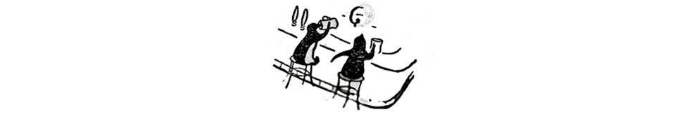 penguins in the pub