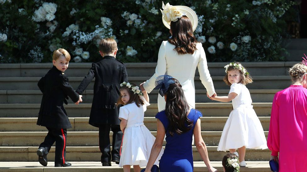 Prince George at his uncle Harry's wedding