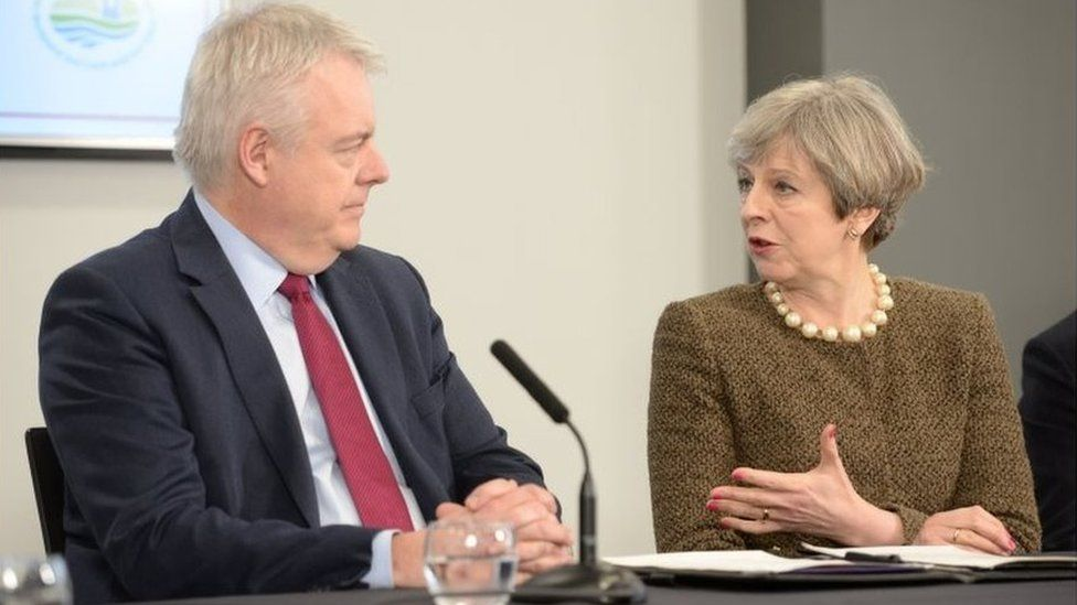 First Minister Carwyn Jones and Prime Minister Theresa May