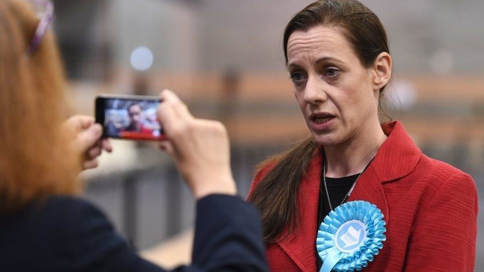 Brexit Party candidate Annunziata Rees-Mogg at the European Parliamentary elections count