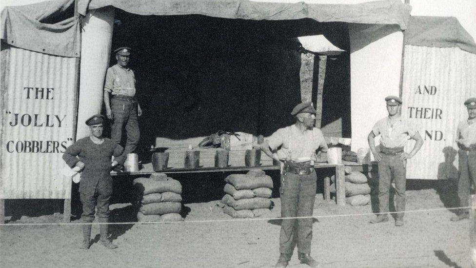 Men of the 1/4th Battalion, Northampton Regiment in Middle East during World War One