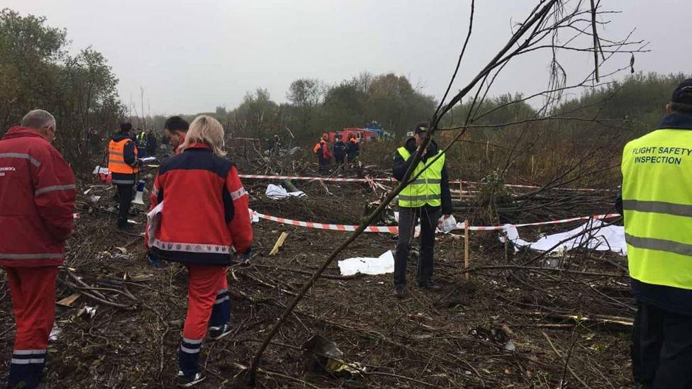 Ukraine plane crash site, 4 Oct 19