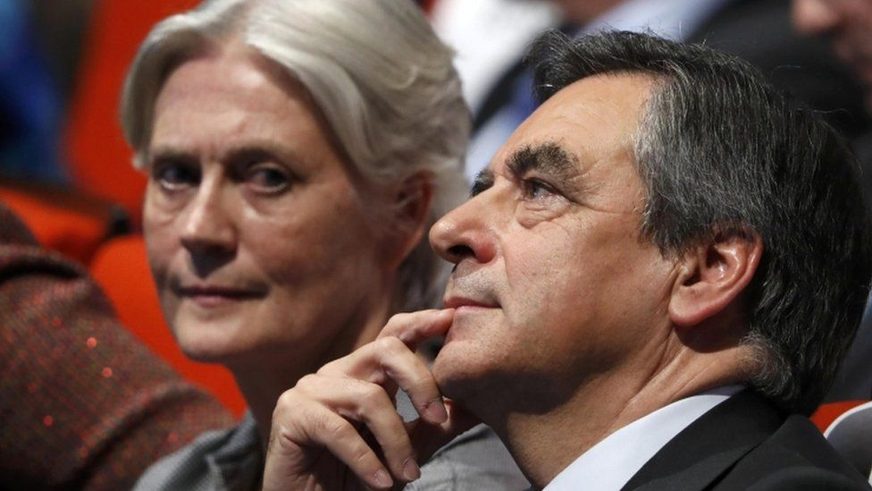 Penelope Fillon with her husband, French presidential candidate Francois Fillon
