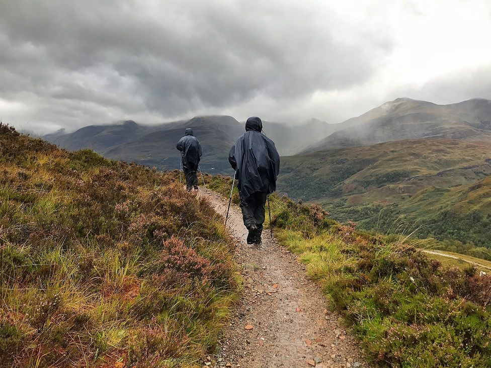 Wet weather on the West Highland Way.