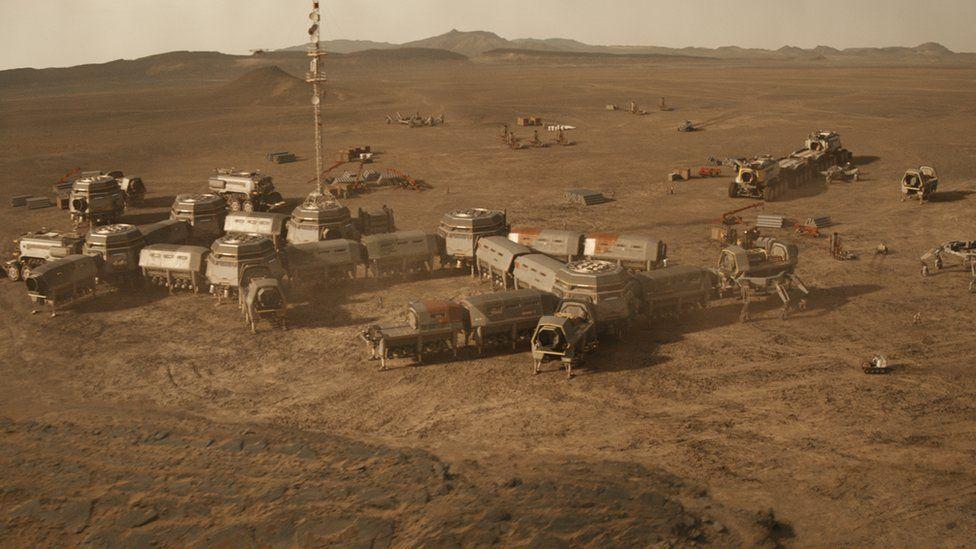 Mars colony from Mars season two
