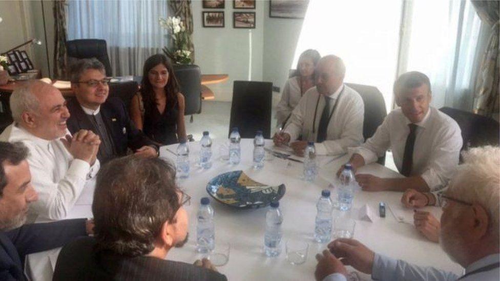 مجموعة السبع: حضور مفاجئ لوزير الخارجية الإيراني لمحادثات في القمة وتضارب بشأن ملابسات الزيارة