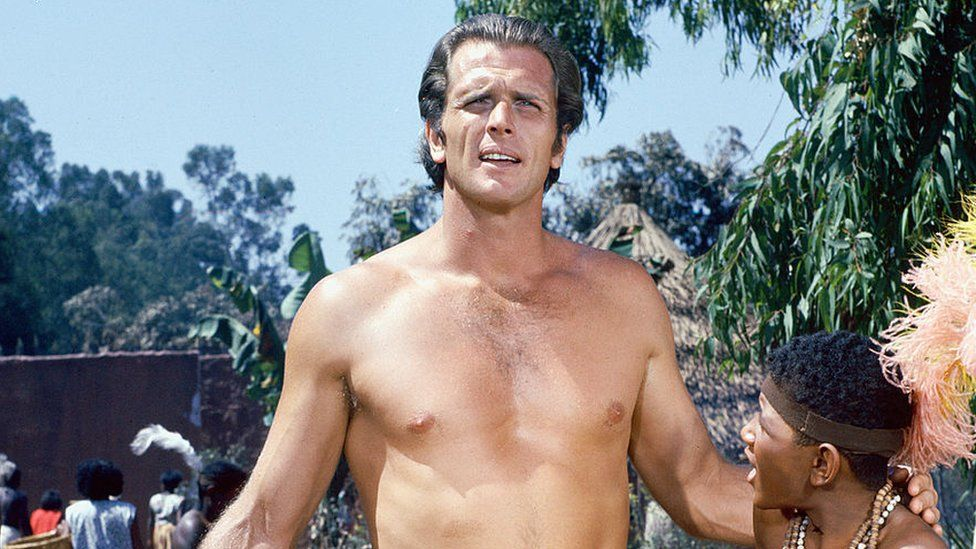 Ron Ely plays Tarzan in the television series of that name, circa 1967
