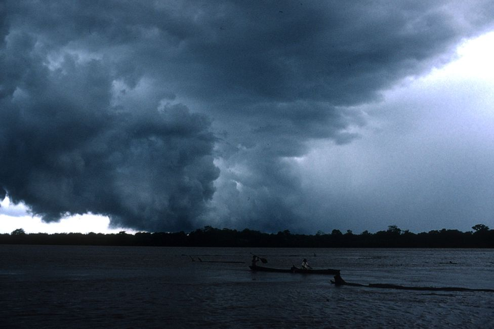 A storm over the Amazon