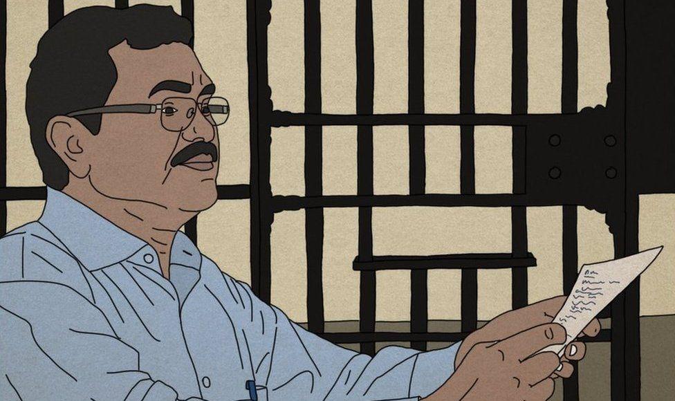 Dalit artist Siddhesh Gautam's drawing of Prof Teltumbde in jail