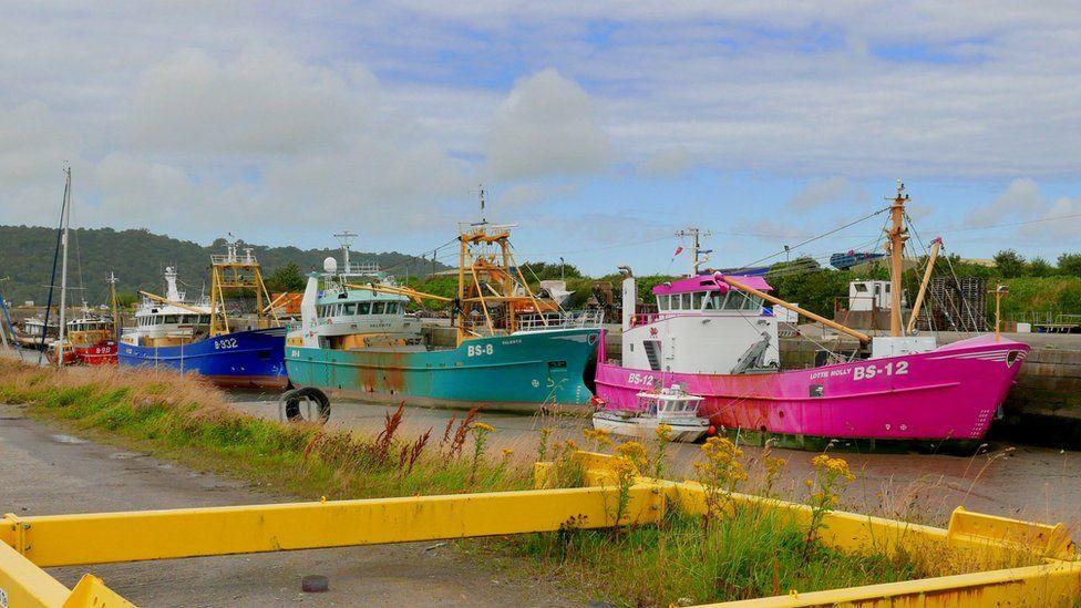 Mussel dredgers at Port Penrhyn, Bangor, Gwynedd, taken by Peter Whitehead