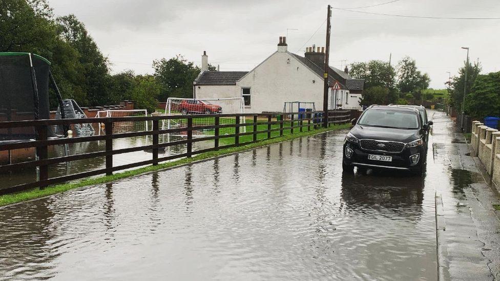 Flooding in West Lothian