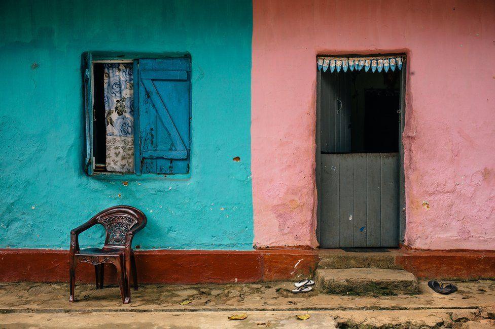 The side of a tea plantation house