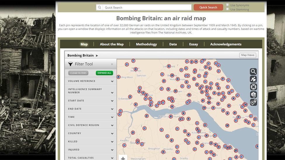 Bombing Britain website