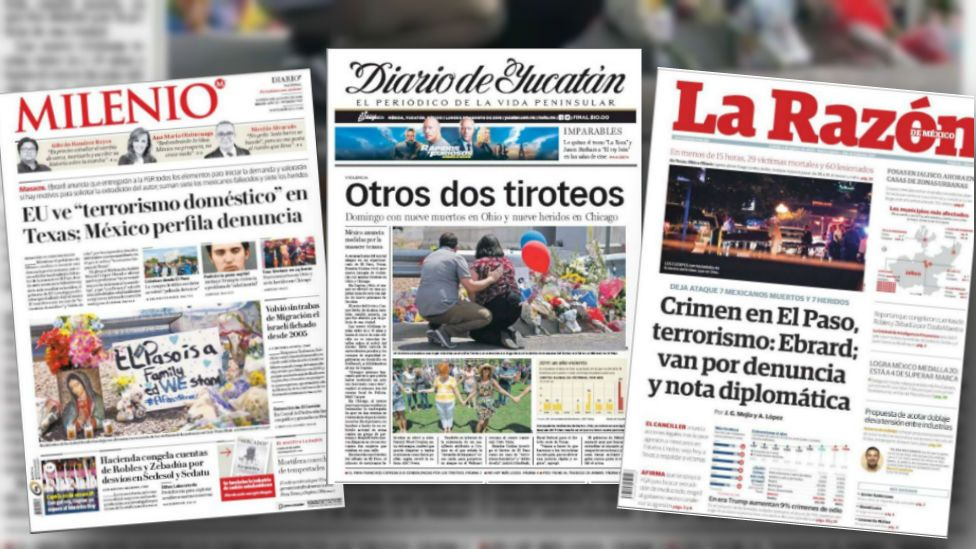 US mass shootings: How Mexico's newspapers saw the El Paso massacre