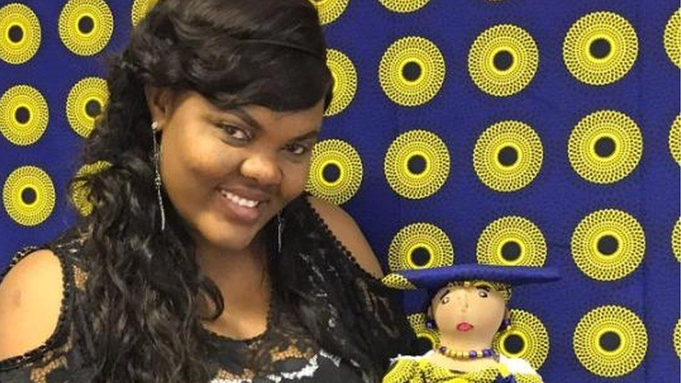 Sarah with Herero doll