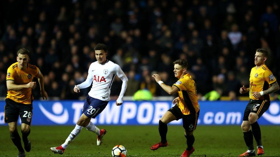 Newport County play Tottenham Spurs in the FA Cup fourth round