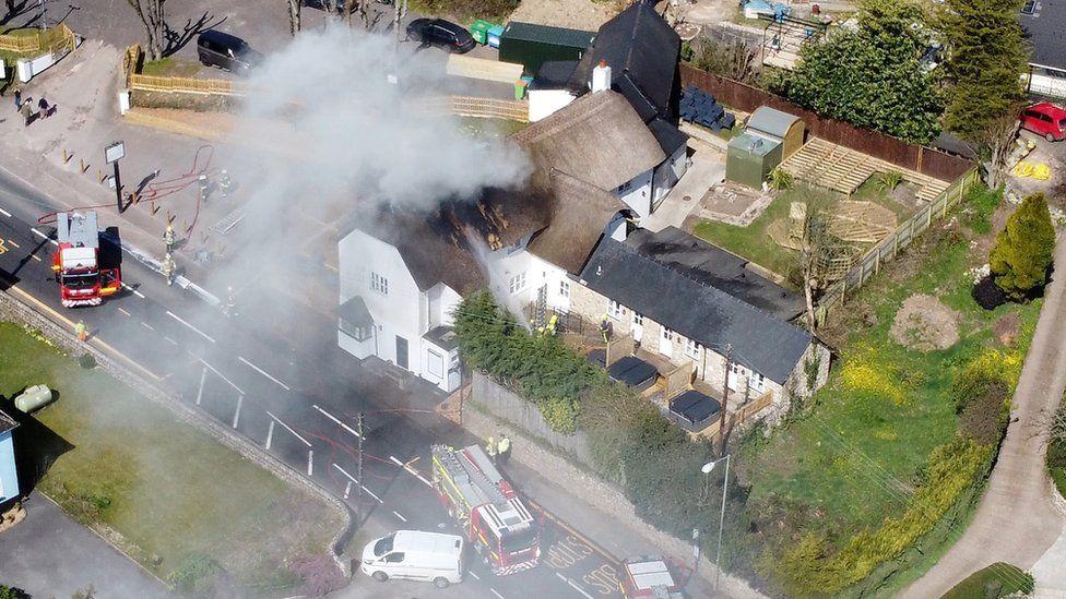 Wilmington fire. Pic: Samuel Fletcher