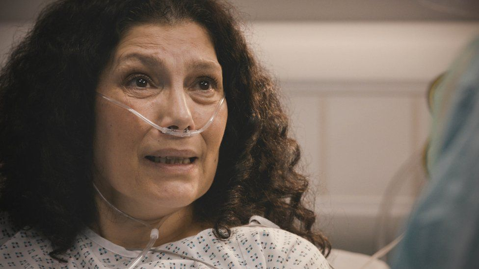 A still from Casualty to be aired on 17 April 2021