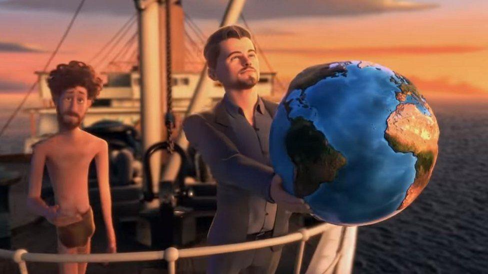 Still from Earth music video