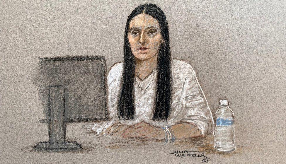 Court sketch of Stephanie Szczotko