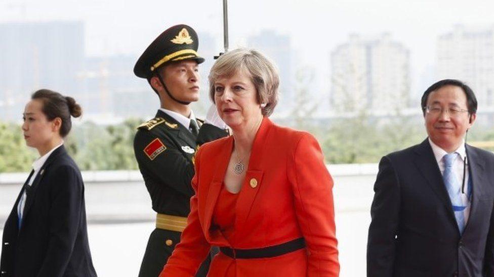 Theresa May at the G20 summit in China