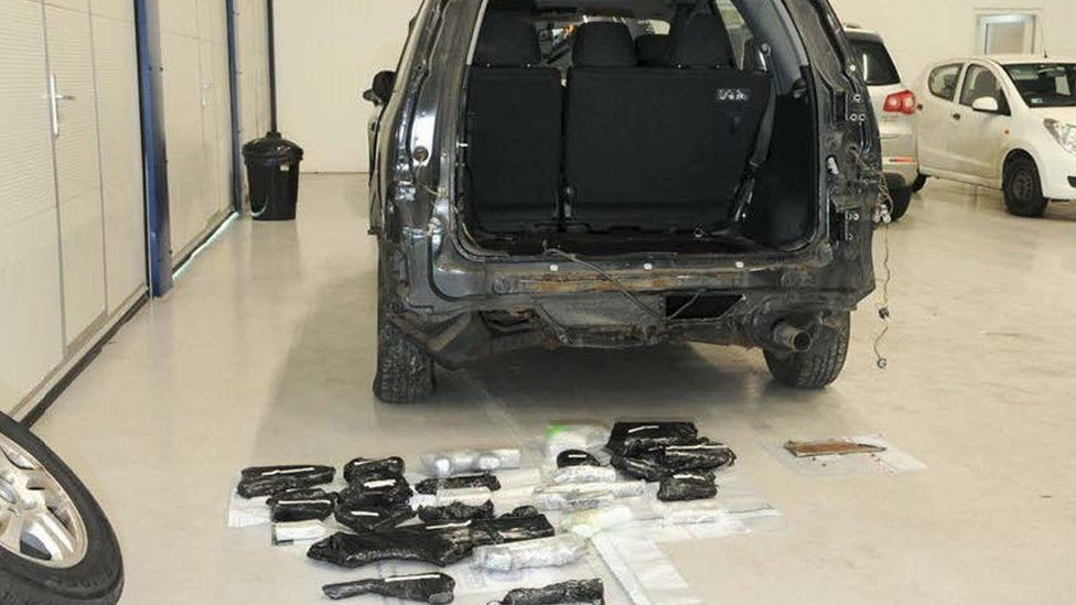 Honda and guns - Firearms, ammunition and a grenade were discovered in a concealed compartment at the back of the Honda car, as part of Operation Escalade.