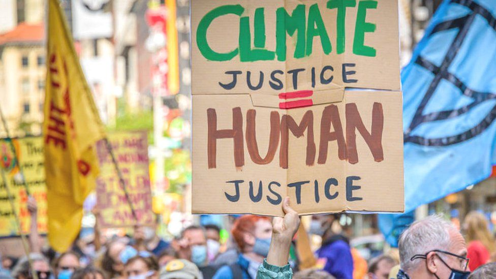 Climate protest in New York