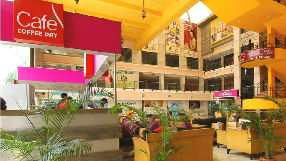 Wedding Souk Shopping Mall at Pitampura in New Delhi, India ( Cafe Coffee Day )