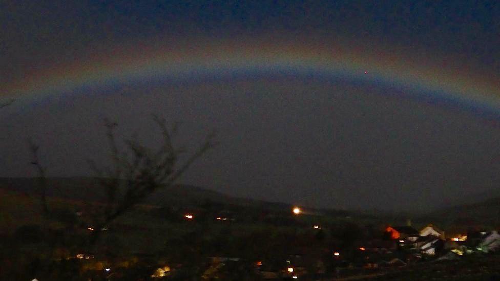 Moonbow captured over Cumbria