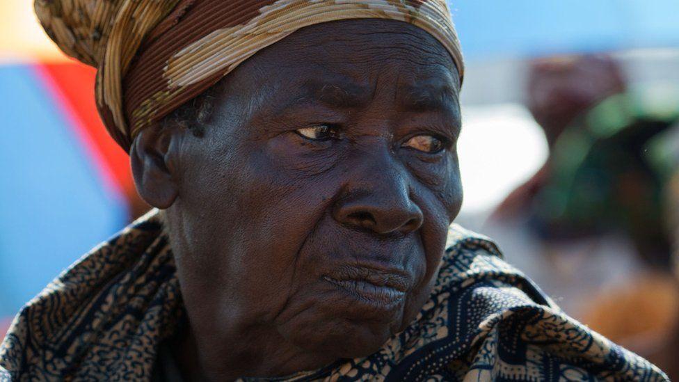 A woman in Tanzania