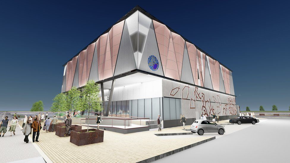 An artistic impression of the proposed aquarium on Queen's Road