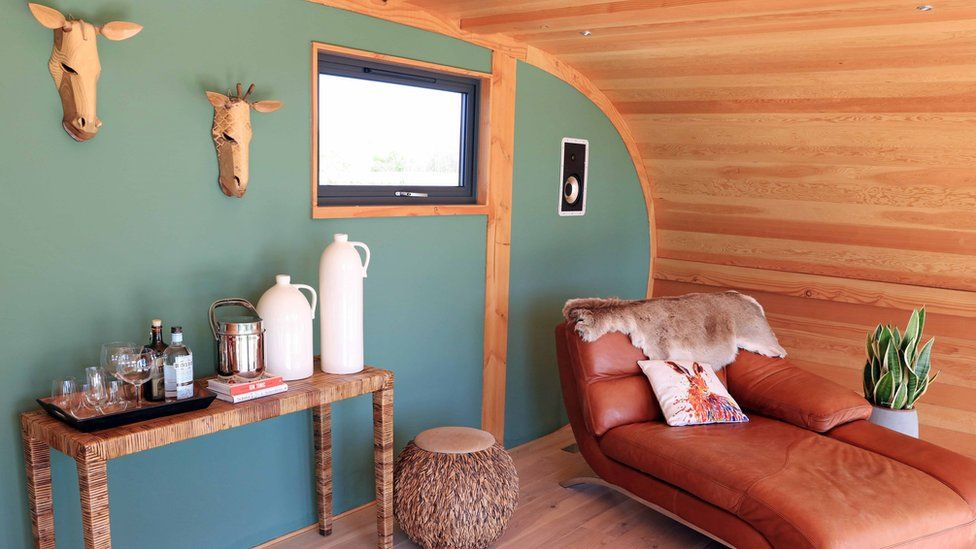 The shed comes with a luxury interior
