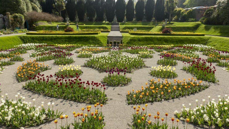 Sunken Garden at Castle Ward in County Down