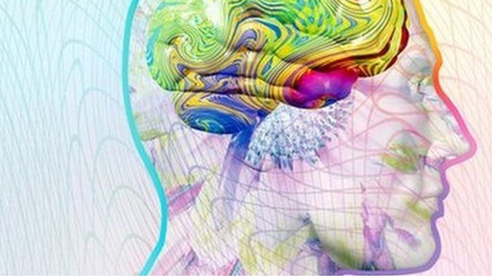 A graphic representing synaesthesia