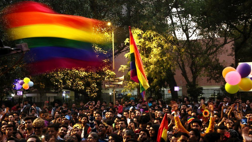Members and supporters of the lesbian, gay, bisexual, transgender (LGBT) community take part in Delhi's Queer Pride Parade from Barakhamba Road to Parliament Street, on November 25, 2018 in New Delhi, India