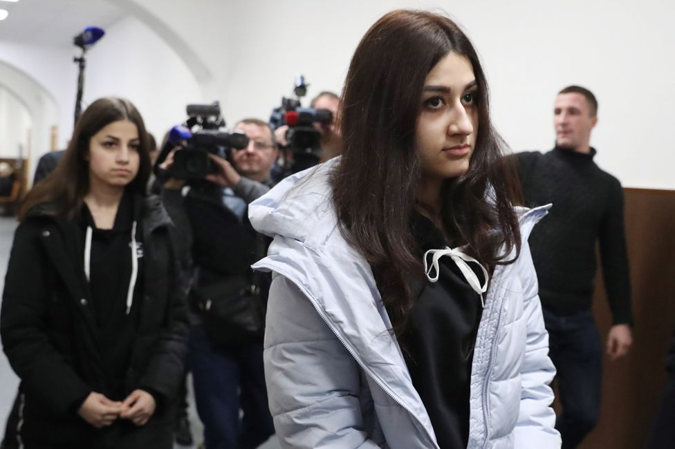 Krestina and Angelina Khachaturyan in court
