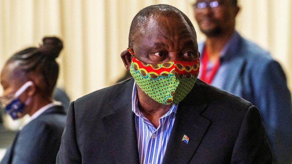 Coronavirus South Africa S President Cyril Ramaphosa Self Quarantines Bbc News