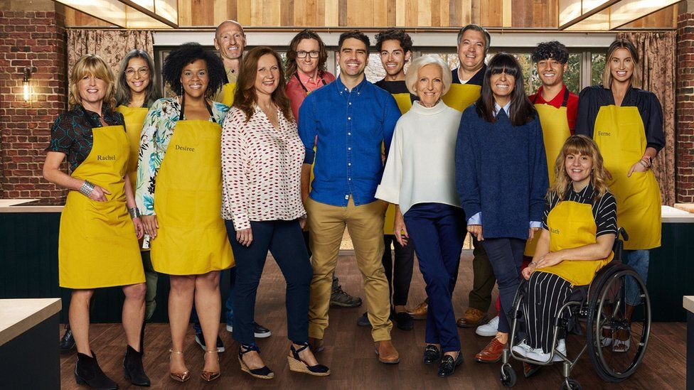 Mary Berry and Claudia Winkleman with this year's Celebrity Best Home Cook line-up