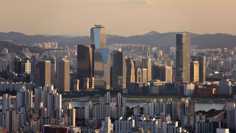A photo taken on September 7, 2015 shows a general view of the Yeouido district of central Seoul.