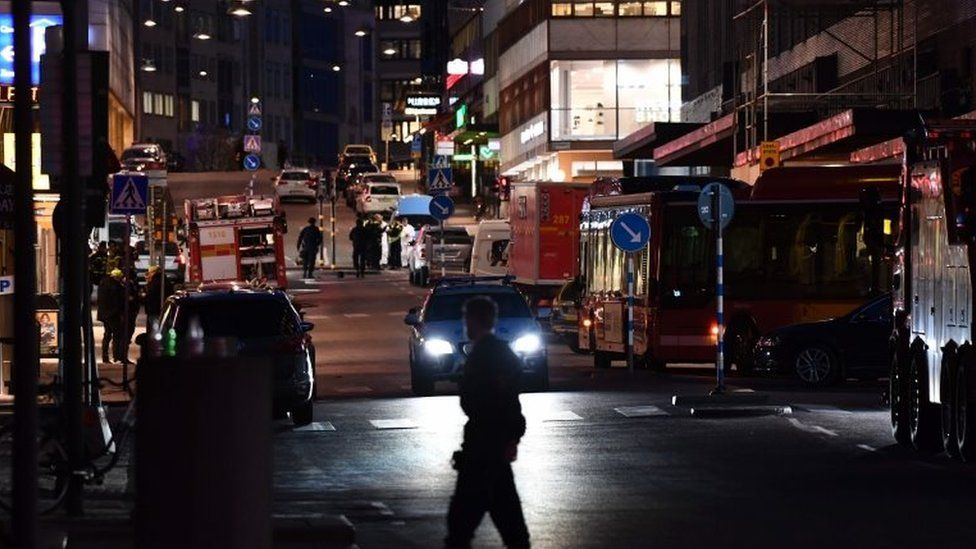 Emergency services worked late into the night
