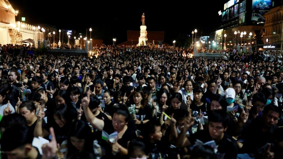 There was a huge attendance at the vigil in Nakhon Ratchasima