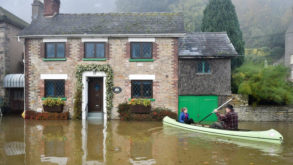 Flooding in Lower Lydbrook