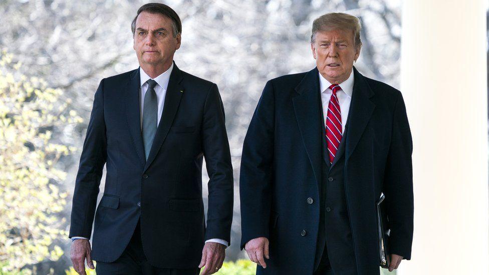 US President Donald Trump and Brazilian President Jair Bolsonaro