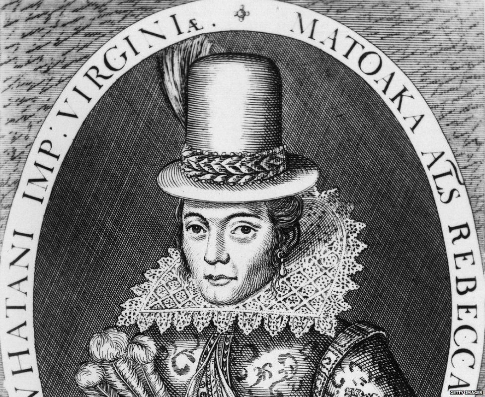 A portrait of Pocahontas in around 1617 shows her in European dress
