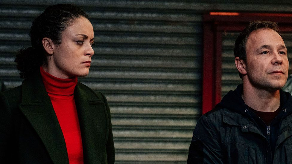 Rochenda Sandall and Stephen Graham in Line of Duty
