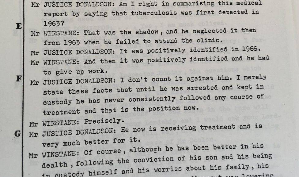 """Merlyn Rees's papers contain a """"short transcript"""" of the Maguire Seven trial in 1976, from summing up to sentencing"""
