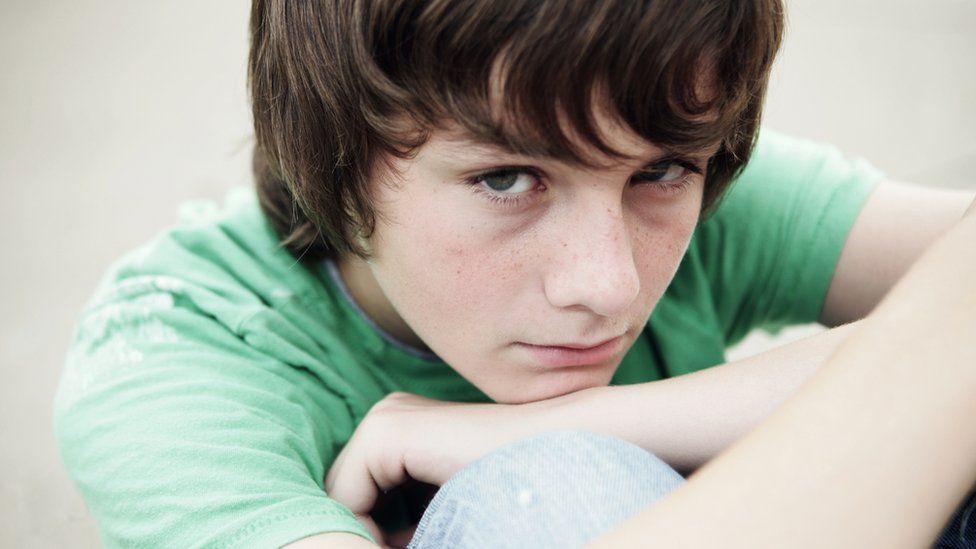 A boy (posed by model)