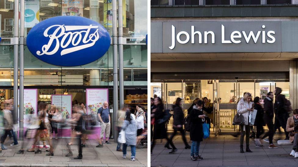 Boots and John Lewis
